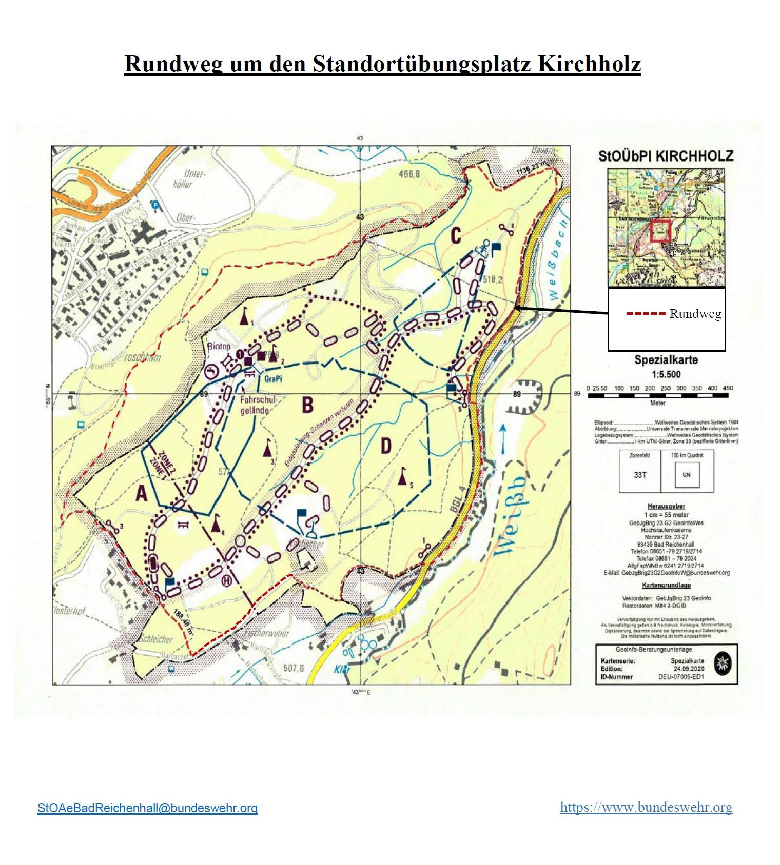Rundweg Standortübungsplatz Kirchholz