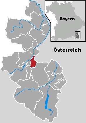 Geografische Lage Bayerisch Gmain