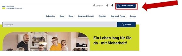 Onlinedienst deutsche Rentenversicherung